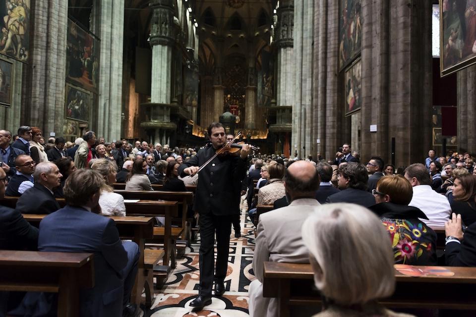 Matteo Fedeli nel Duomo di Milano